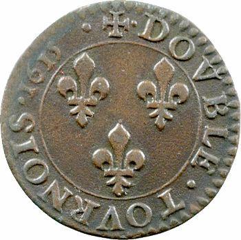 Louis XIII, double tournois, 1615 Amiens