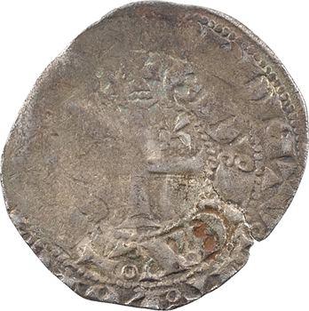 Aquitaine (duché d'), Édouard III, blanc au léopard et à la couronne, s.d. (c.1340-1345)