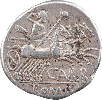 Papiria, denier, Rome, 122 av. J.-C.