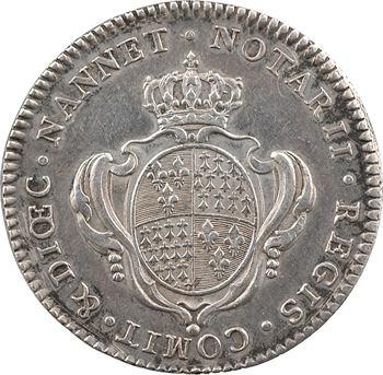 Bretagne, Nantes (notaires royaux de), Louis XVI par Duvivier, s.d