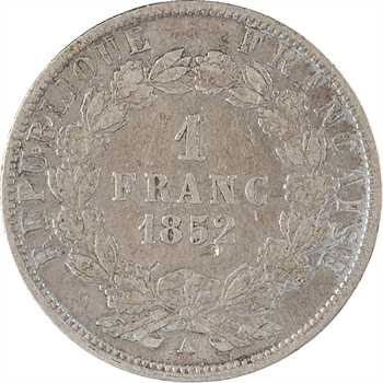 IIe République, 1 franc LNB, 1852 Paris