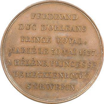 Louis-Philippe Ier, mariage duc d'Orléans avec Hélène, par Montagny, 1837 Paris