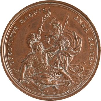 Pays Bas méridionaux, Victoire des Alliés sur les français à Ramillies, par P.H. Müller, 1706