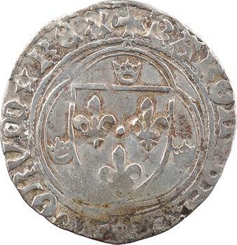 Charles VIII, blanc à la couronne (molettes/annelets), cantonnement inversé, Châlons-en-Champagne