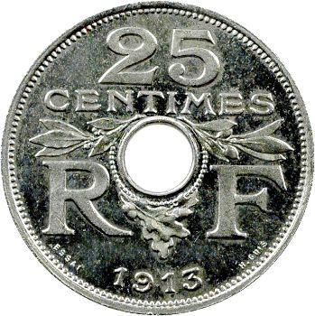 IIIe République, essai de 25 centimes par Guis, grand module, 1913 Paris