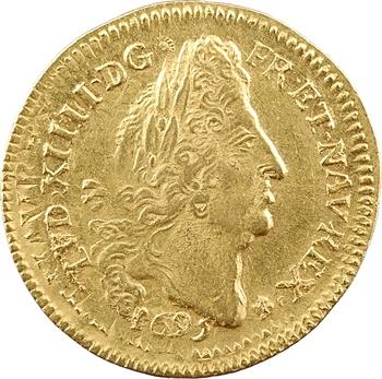 Louis XIV, louis d'or aux quatre L, 1695 Troyes