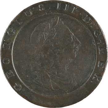 Grande-Bretagne, Georges III, 2 pence Cartwhell, 1797 Birmingham