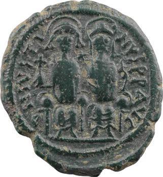Justin II et Sophie, follis, Nicomédie, 2e officine, An 6 = 570-571