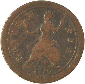 Royaume-Uni, George Ier, farthing, 1719