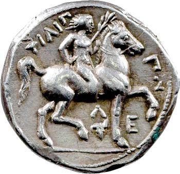 Macédoine, Philippe II, tétradrachme, Amphipolis, c.315/4-295/4 av. J.-C.