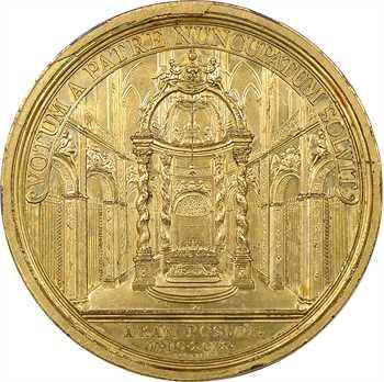 Louis XIV, érection du maître-autel voué par Louis XIII à Notre Dame de Paris, par Roussel, 1699 Paris