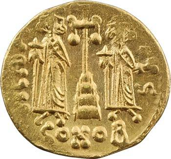 Constantin IV, solidus, Constantinople, 6e officine, c.674-681