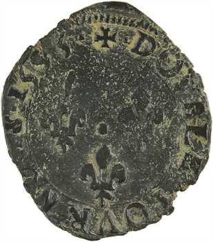 Charles X, double tournois, 1595 Dijon