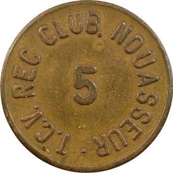 Maroc, Armée des États-Unis, 5 [cents], T.C.V. REC Club à Nouasseur, s.d
