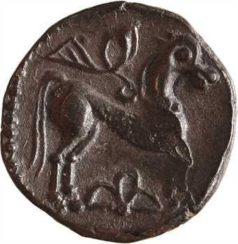 Lémovices (?), drachme à la coiffure diadémée et au cheval à droite surmonté d'une victoire, Ier s. av. J.-C