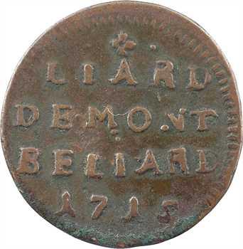 Montbéliard (comté de), Léopold-Éberard, Liard, 1715 Montbéliard