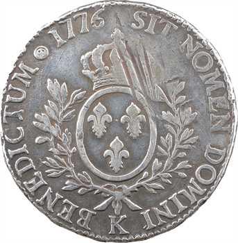 Louis XVI, écu aux branches d'olivier, 1776 Bordeaux