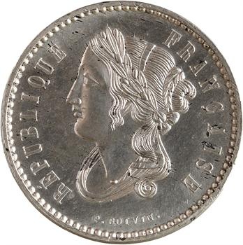 IIe République, essai de 10 centimes par Boivin, 1848 Paris