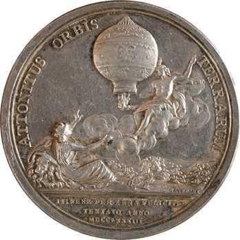 Louis XVI, le premier vol des frères Montgolfier et le ballon de Jacques Charles, 1783 (1860-1879) Paris