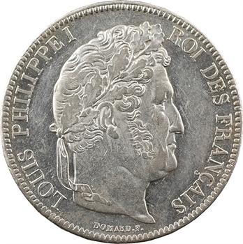 Louis-Philippe Ier, 5 francs IIe type Domard, 1833 Paris