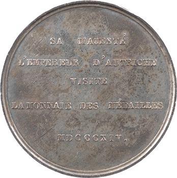 Louis XVIII, Autriche, François Ier visite la Monnaie de Paris, 1814 Paris