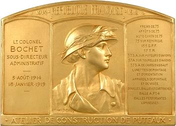 Dropsy (H.) : Ateliers de constructions militaires de Puteaux, Lieutenant-Colonel Bochet, 1914-1919 Paris