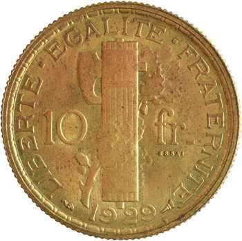 IIIe République, essai de 10 francs par Morlon, 1929 Paris