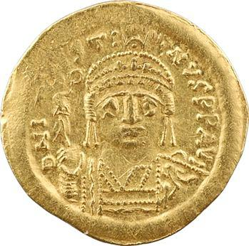 Justin II, solidus, Constantinople, 4e officine, 575-578