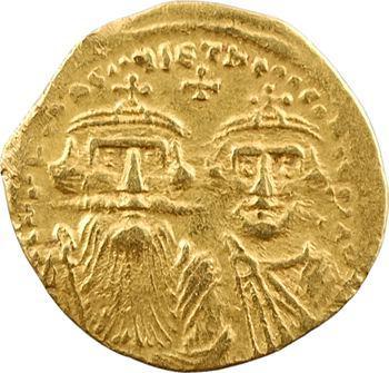 Héraclius et Héraclius Constantin, solidus, Constantinople, 10e officine, 629-632