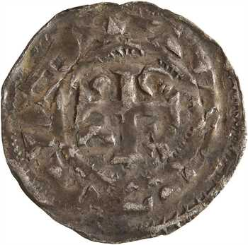 Normandie (duché de), Richard II, denier aux quatre frontons, s.d. (c.1025) Rouen