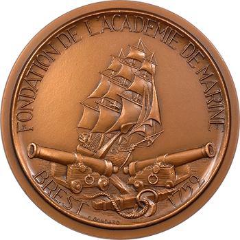 Ve République, fondation de l'Académie de Marine de Brest par Sébastien Bigot de Morogues, par Bigot, N° 4/100, 1981 Paris