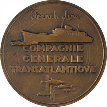 Bateau : Compagnie Générale Transatlantique (C.G.T.), le paquebot Flandre, par Renard, s.d. Paris