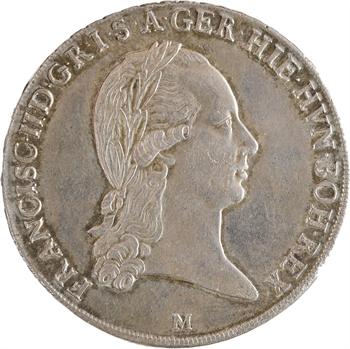 Italie, Lombardie, François II, écu ou kronenthaler, 1793 Milan