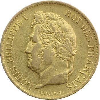 Louis-Philippe Ier, 40 francs, 1833 Paris