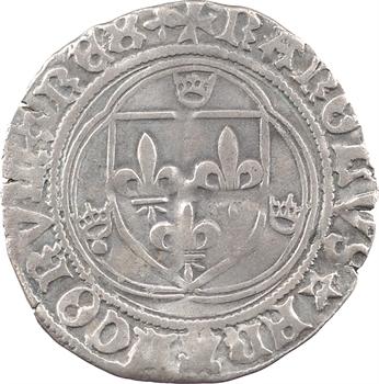 Charles VIII, blanc à la couronne, c.1490-1493, Troyes
