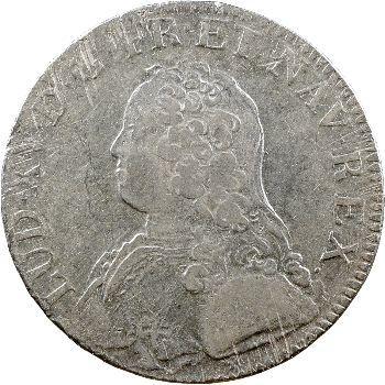 Louis XV, écu aux rameaux d'olivier, 1726 Caen