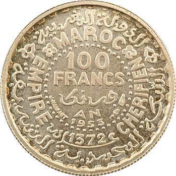 Maroc, Mohammed V, essai de 100 francs, AH 1372 (1953) Paris