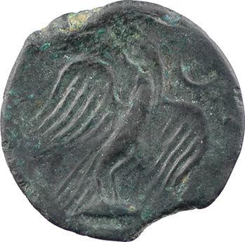 Carnutes, bronze lourd à la tête de ROMA, classe I, IIe-Ier s. av. J.-C