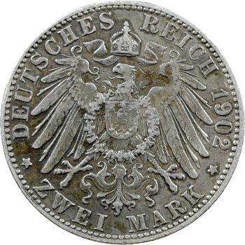 Allemagne, Bavière (royaume de), Othon, 2 mark, 1902 Munich