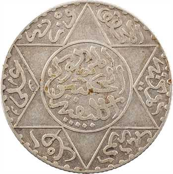 Maroc, Abdül Aziz I, 2 1/2 dirhams, AH 1312 (1894) Paris