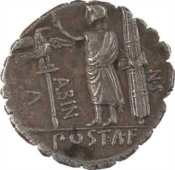Postumia, denier serratus, Rome, 81 av. J.-C.