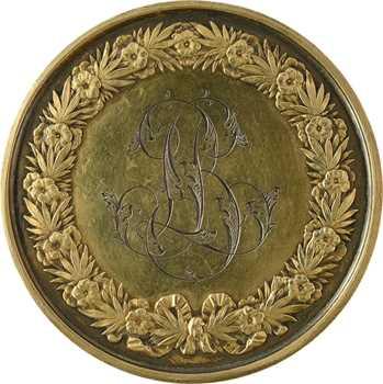 Second Empire, médaille de mariage, par Domard, 1847 (1867) Paris