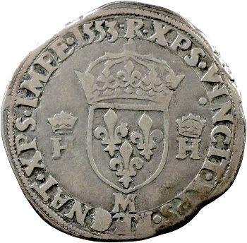 Henri II, Teston à la tête nue 5e type, 1553 Toulouse