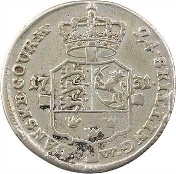 Danemark (royaume de), Christian VI, 24 skilling, 1731 Copenhague