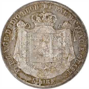 Italie, Parme (duché de), Marie-Louise, 5 lire, 1832 Milan