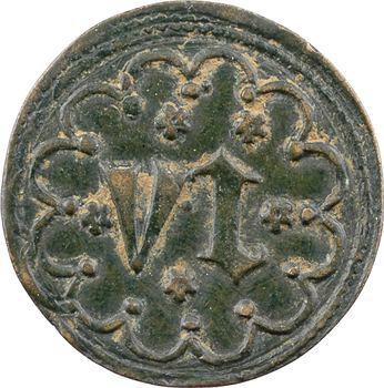 Dun-le-Roi (Dun-sur-Auron), collégiale Saint-Étienne, méreau de VI deniers, s.d