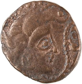 Osismes, quart de statère au personnage recroquevillé, Ier s. av. J.-C.
