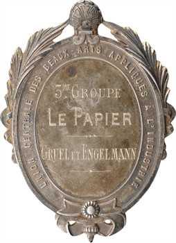 IIIe République, prix de l'Union Centrale des Beaux-Arts au Papier Gruel et Engelmann, 1882 Paris
