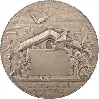 Degeorge (C.-J.M.) : Le siège de Paris (communications aériennes), en argent, 1870-1871 Paris