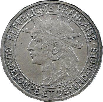 Guadeloupe, pré-série de 50 centimes, 18 pans, 1903 Paris